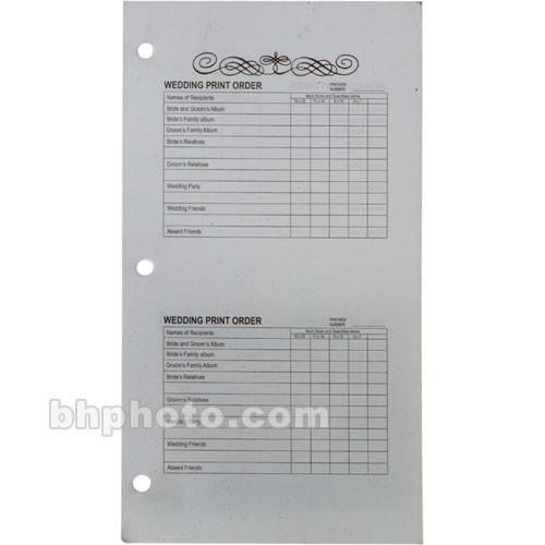 Winthrop-Atkins Order Forms for Proof Album Book - 5 x 102002100