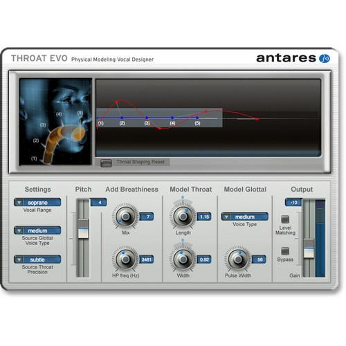 Antares Audio Technologies THROAT Evo - Physical Modeling 35102E