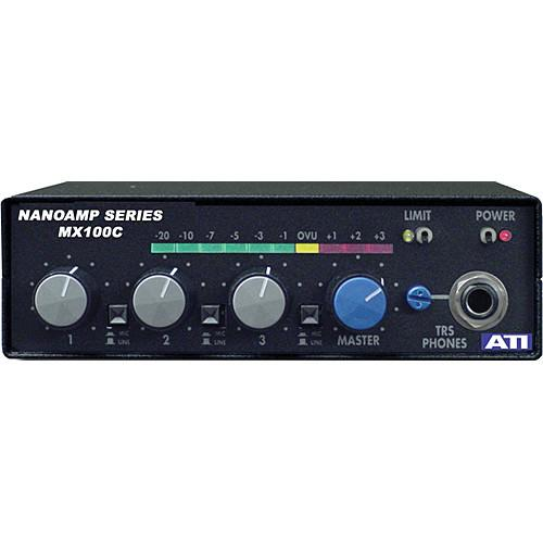 ATI Audio Inc MX-100C 3-Channel Field Audio Mixer MX100C