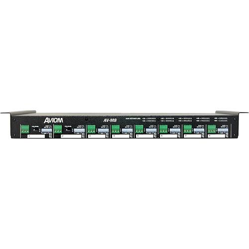 Aviom AV-M8 Eight-Channel Mic Input Module for Pro16 A-Net AV-M8