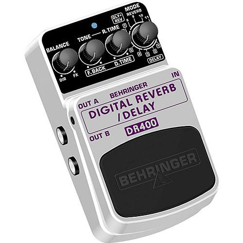 Behringer DR400 Digital Reverb/Delay Stompbox Pedal DR400