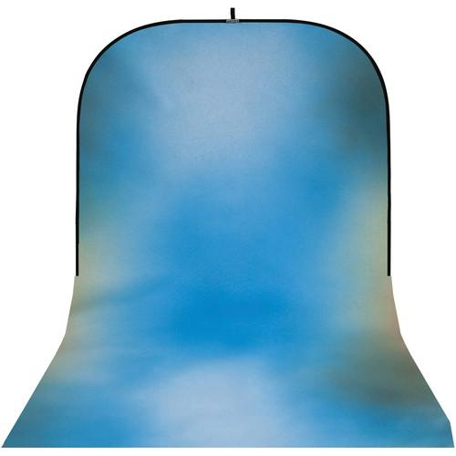 Botero #015 Super Collapsible Background (8x16', Blue, Green)