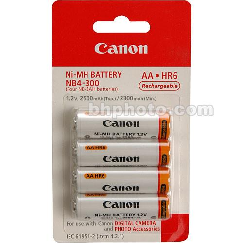 Canon NB4-300 AA NiMH Batteries (4-pack) 1171B002