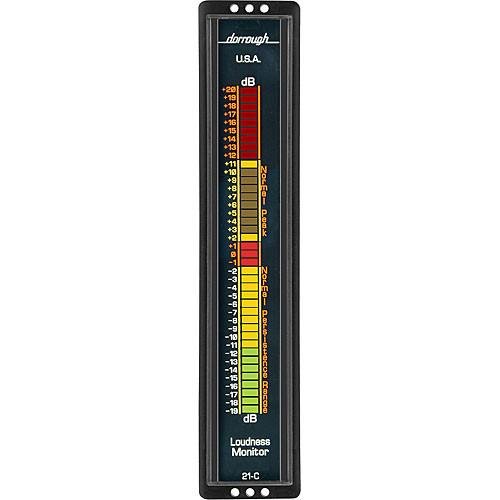 Dorrough 21C Vertical Analog Loudness Meter  20 dB 21-C