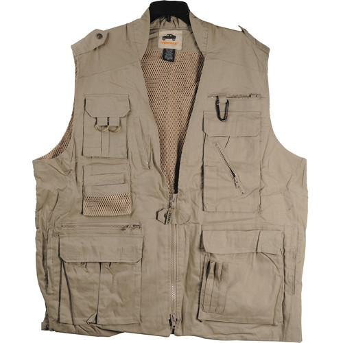 Humvee by CampCo Safari Photo Vest (Small, Khaki) HMV-VS-K-S