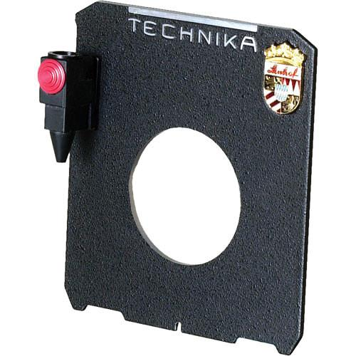 Linhof Lensboard with Cable Release Quicksocket 1124