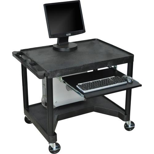 Luxor Endura Workstation w/Legroom & Keyboard Shelf LEM32K-B