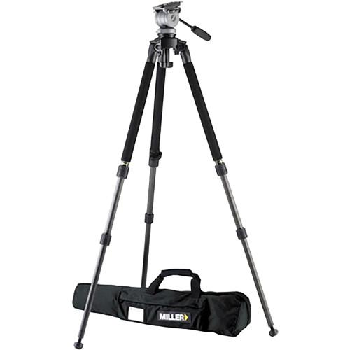 Miller DS-10 DV Fluid Head with Solo Aluminum Tripod 1640