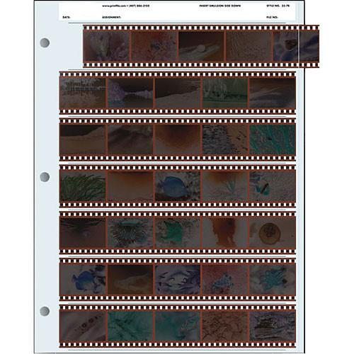 Pana-Vue 35mm Negative Pages (7 Strip/5 Frame, 25 Pages) EPA401