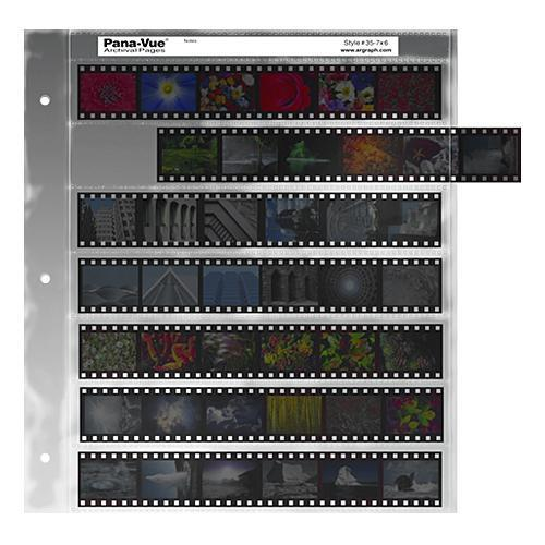 Pana-Vue 35mm Negative Pages (7 Strip/6 Frame, 25 Pages) EPA412