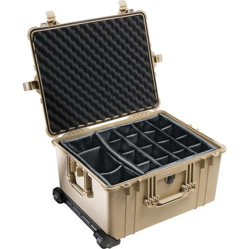 Pelican 1624 Waterproof 1620 Case with Dividers (Desert Tan)