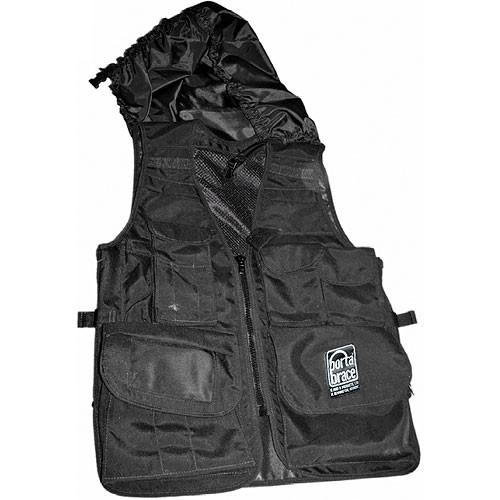 Porta Brace Video Vest with Hood (Large, Black) VV-LBLH