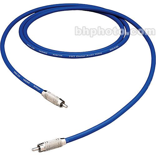 Pro Co Sound S/PDIF RCA Male to RCA Male Patch Cable - 3' SPD-3