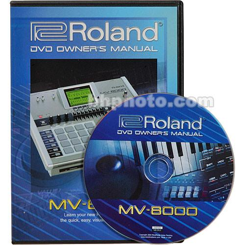 Roland DVD: Owner's Manual for MV-8000 - MIDI MV-8000DVM