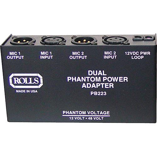 Rolls  PB223 Dual 48V Phantom Power Supply PB223