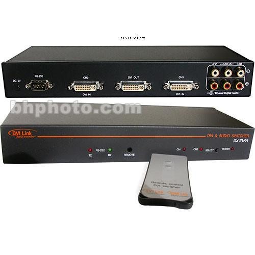 RTcom USA DS-21AR DVI with Audio Switcher DS-21RA