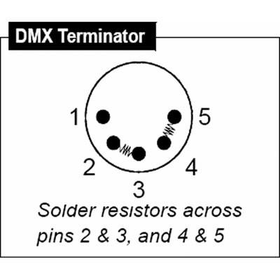Strand Lighting DMX Terminator for Light Pack Dimmer 71346