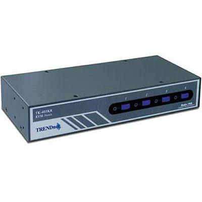 TRENDnet 4-Port Audio KVM Switch - VGA, PS/2 TK-403KR