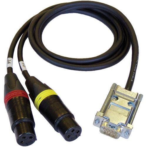 Cable Techniques CT-DE15/2 Dual 3-Pin XLR-F to DE-15 CT-DE15/2