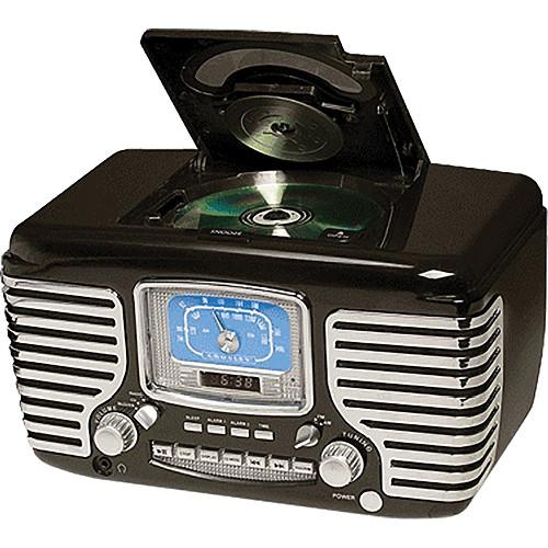 Crosley Radio CR612 Corsair Clock Radio (Black) CR612-BK