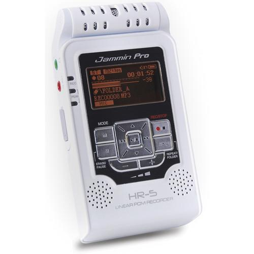 Jammin HR-5 Handheld Digital Audio Recorder (White) HR-5 WHITE