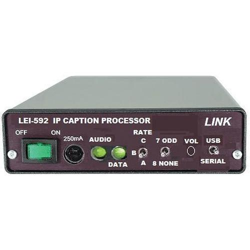 Link Electronics LEI-592M IP Caption Processor - Master LEI-592M