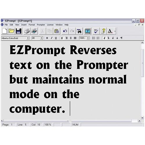Listec Teleprompters EZPrompt Teleprompting Program LVC-526