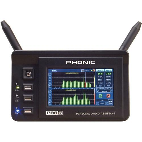 Phonic PAA6 - Digital 2-Channel Audio Analyzer with Color PAA6
