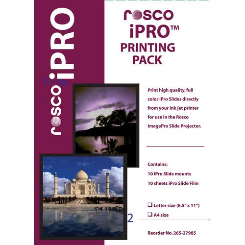 Rosco iPro Printing Pack (Letter Size) 265279850010