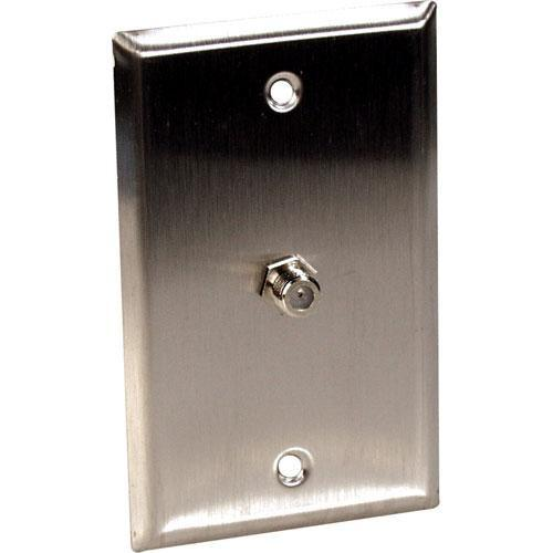 TecNec WPL-1107R Stainless Steel 1-Gang Wall Plate WPL-1107/R