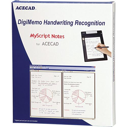 Acecad MyScript Notes DigiMemo Handwriting Recognition DMOCR