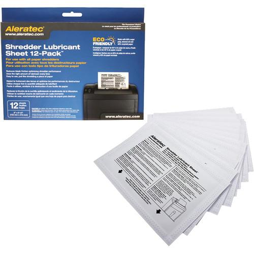 Aleratec Shredder Lubricant Sheets (12 Pack) 240165