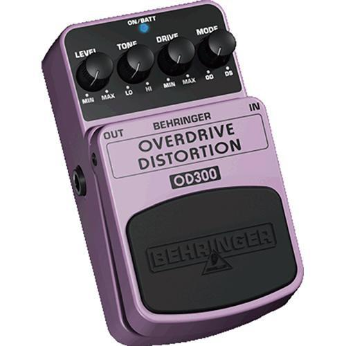 Behringer OD300 Overdrive and Distortion Stompbox Effect OD300
