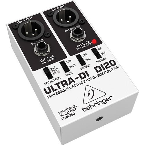 Behringer ULTRA-DI DI20 - Active 2-Channel DI Box/Splitter DI20