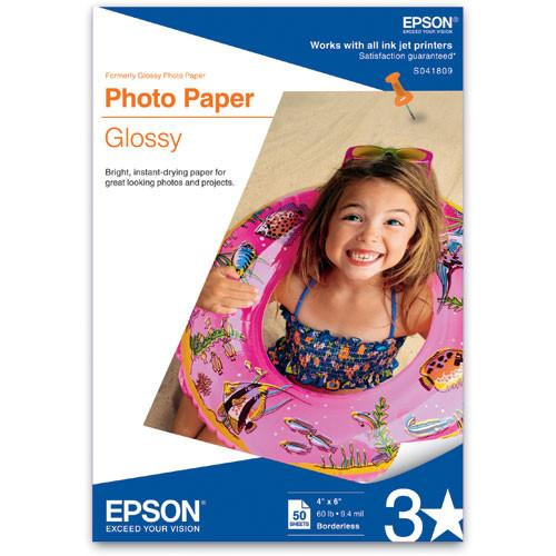 Epson Glossy Photo Paper Borderless - 4x6