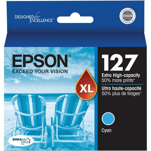 Epson T127220 127 Extra High-Capacity Cyan Ink Cartridge T127220