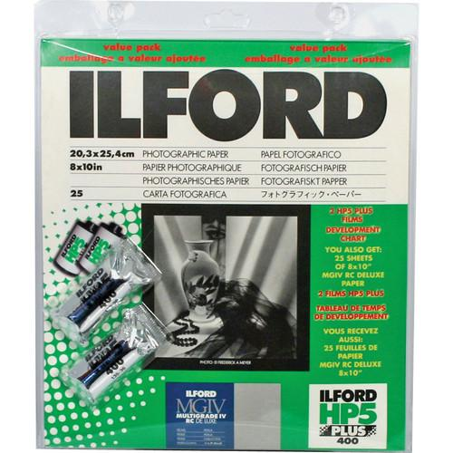 Ilford  HP5 /MG4 8X10/25 Pearl Value Pack 1858477
