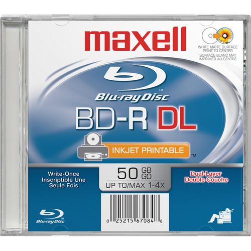 Maxell BD-R Dual Layer Printable White 50GB (White) 631013