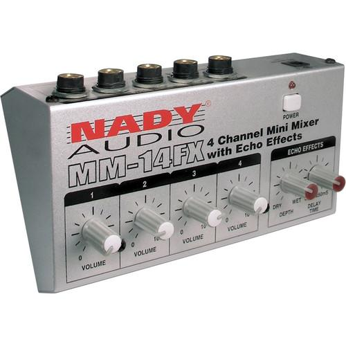 Nady MM-14FX 4-Channel Mini Mixer with Echo Effects MM-14FX
