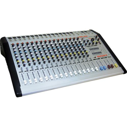 Nady PMX-1600 16-Channel/2-Bus Powered Console Mixer PMX-1600