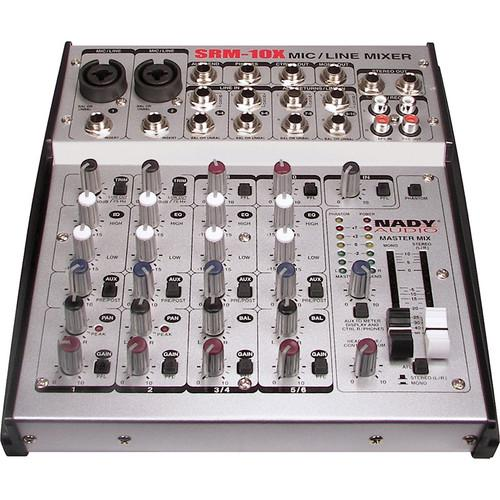 Nady SRM-10X 10-Channel Stereo Mic/Line Mixer SRM-10X