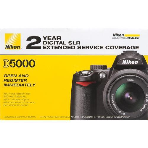 Nikon 2-Year Extended Service Coverage (ESC) for the Nikon 11558