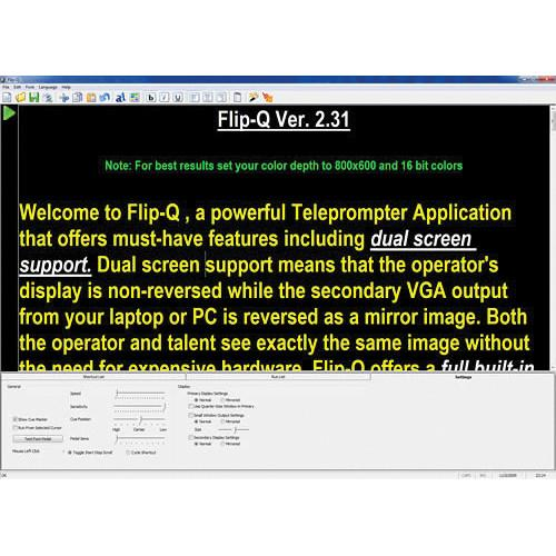 Prompter People Flip-Q Prompting Software Pro Upgrade SW-FQUPGR
