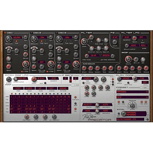 Rob Papen Predator - Virtual Synthesizer Plug-In RPPRED03