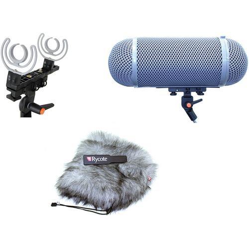 Rycote Stereo Windshield AF Kit for 30mm Microphones 080205
