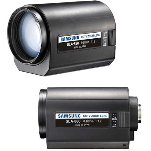 Samsung SLA-880 C-mount Motorized Zoom Lens (8-80mm) SLA-880