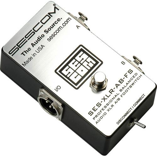 Sescom Balanced XLR A/B Passive Foot Switch SES-XLR-AB-FS
