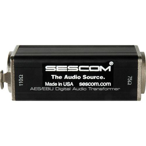 Sescom XLRF to 75 Ohm BNC Female AES/EBU Impedance SES-AES-EBU-1