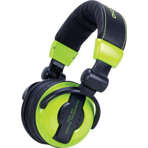 American Audio HP 550 DJ Headphones (Lime) HP 550 LIME