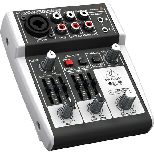 Behringer XENYX 302USB 5-Input Compact Mixer and USB 302USB